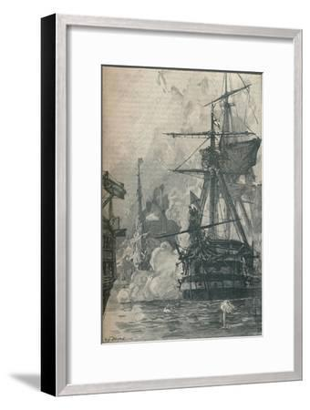 The Russian attack on Sinop, Turkey, 1853 (1906)-Unknown-Framed Giclee Print