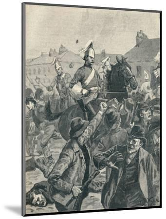Dragoons and Highlanders scattering  rioters in Belfast, 1872 (1906)-Unknown-Mounted Giclee Print
