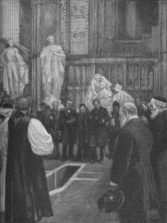 Funeral of William Ewart Gladstone in Westminster Abbey, London, 1898 (1906)-Unknown-Framed Giclee Print