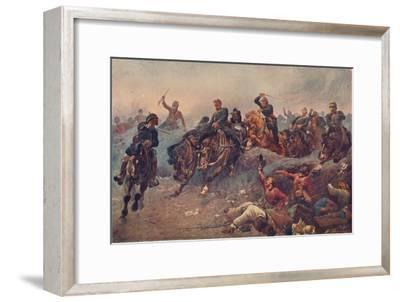 'British Artillery Entering the Enemy's Lines at Tel-el-Kebir, Egypt, 1882', 1883-Unknown-Framed Giclee Print