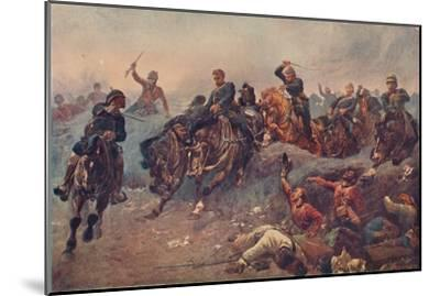 'British Artillery Entering the Enemy's Lines at Tel-el-Kebir, Egypt, 1882', 1883-Unknown-Mounted Giclee Print