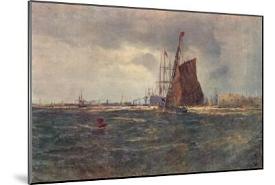 'Entrance to Portsmouth Harbour', late 19th Century (1906)-Unknown-Mounted Giclee Print