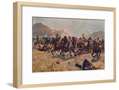 'Maiwand: Saving the Guns,' 1883 (1906)-Unknown-Framed Giclee Print