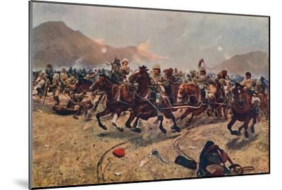 'Maiwand: Saving the Guns,' 1883 (1906)-Unknown-Mounted Giclee Print
