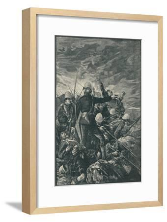 'Sir George Colley at Majuba Hill', 1906-Unknown-Framed Giclee Print
