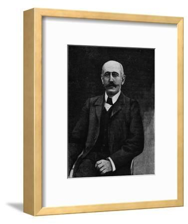 Captain Alfred Dreyfus, French soldier disgraced in the Dreyfus Affair, c1900-Unknown-Framed Giclee Print