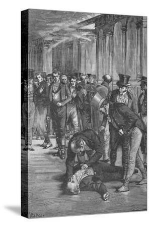Assassination of Spencer Perceval, 1812 (1906)-Unknown-Stretched Canvas Print