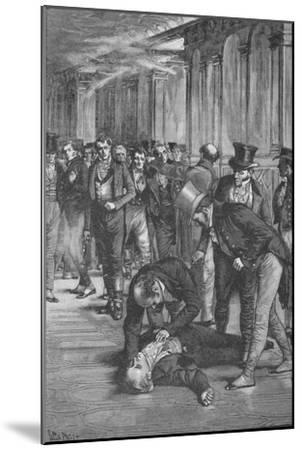 Assassination of Spencer Perceval, 1812 (1906)-Unknown-Mounted Giclee Print