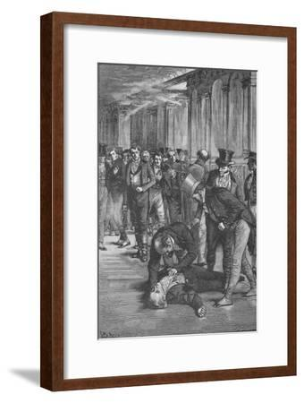 Assassination of Spencer Perceval, 1812 (1906)-Unknown-Framed Giclee Print