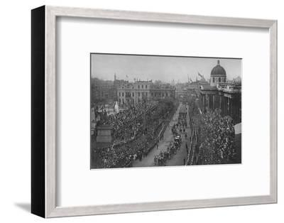 The Diamond Jubilee: Queen Victoria's carriage passing the National Gallery, London, 1897-Unknown-Framed Photographic Print