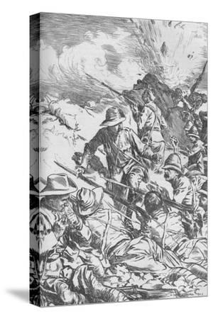 The Battle of Spion Kop, Boer War, South Africa, 1900 (1906)-Unknown-Stretched Canvas Print