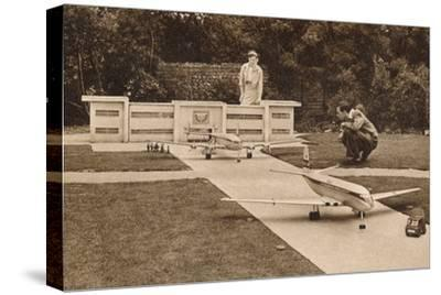 The Airport, the Model Village, West Cliff, Ramsgate, Kent, c1950s-Unknown-Stretched Canvas Print