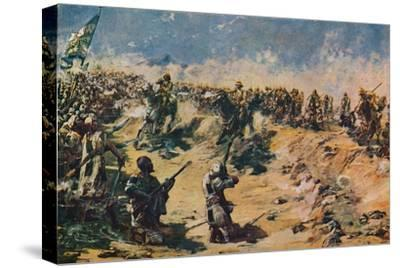 'The Charge of the 21st Lancers at Omdurman, 1898' (1906)-Unknown-Stretched Canvas Print