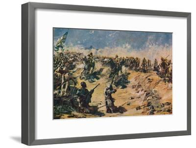 'The Charge of the 21st Lancers at Omdurman, 1898' (1906)-Unknown-Framed Giclee Print