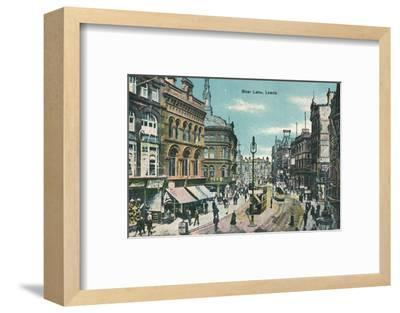 Boar Lane, Leeds, c1905-Unknown-Framed Photographic Print