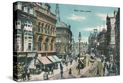 Boar Lane, Leeds, c1905-Unknown-Stretched Canvas Print
