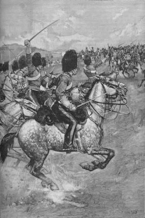 Charge of the Heavy Brigade at the Battle of Balaclava, 1854 (1906)-Unknown-Framed Giclee Print