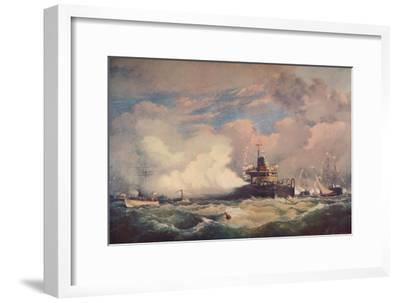'The Turret Armour-Clad Ship 'Devastation' at Spithead, 1873 (1906)-Unknown-Framed Giclee Print