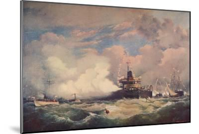 'The Turret Armour-Clad Ship 'Devastation' at Spithead, 1873 (1906)-Unknown-Mounted Giclee Print