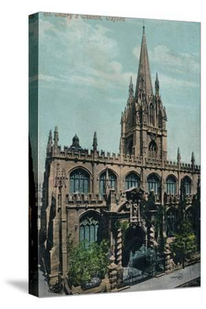 St Mary's Church, Oxford c1905-Unknown-Stretched Canvas Print