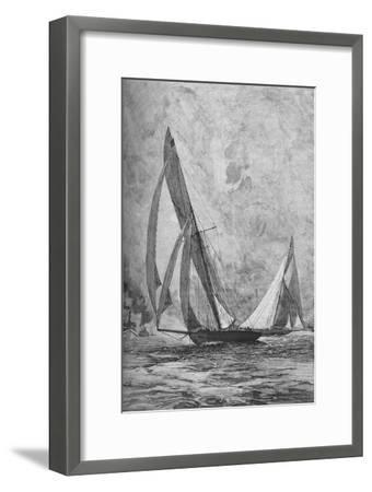 The 'Shamrock' and the 'Columbia' racing for the America's Cup, 1899 (1906)-Unknown-Framed Giclee Print
