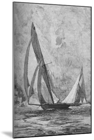 The 'Shamrock' and the 'Columbia' racing for the America's Cup, 1899 (1906)-Unknown-Mounted Giclee Print