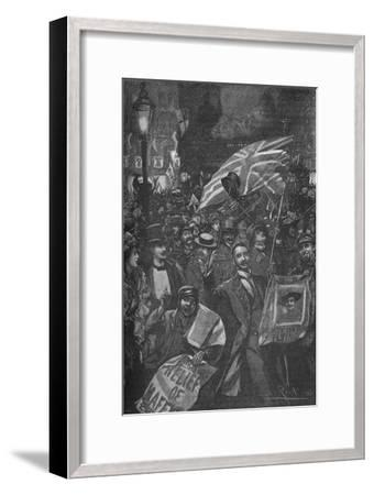 Mafeking night in London, 1900 (1906)-Unknown-Framed Giclee Print