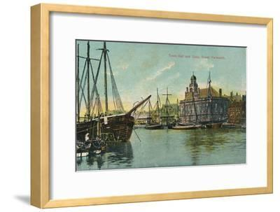 Town hall and quay, Great Yarmouth, Norfolk, c1905-Unknown-Framed Giclee Print