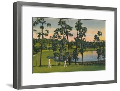 'Golfing, a year round sport in Florida', c1939-Unknown-Framed Giclee Print