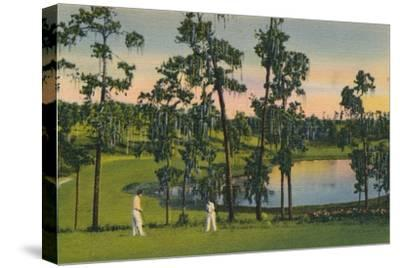 'Golfing, a year round sport in Florida', c1939-Unknown-Stretched Canvas Print