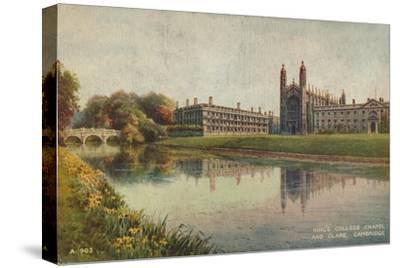 King's College Chapel and Clare College, Cambridge, c1935-Unknown-Stretched Canvas Print
