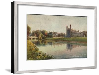 King's College Chapel and Clare College, Cambridge, c1935-Unknown-Framed Giclee Print