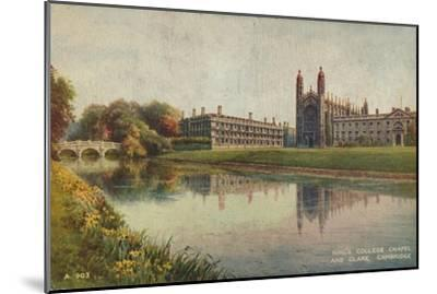 King's College Chapel and Clare College, Cambridge, c1935-Unknown-Mounted Giclee Print