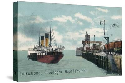 Folkestone (Boulogne Boat leaving), c1905-Unknown-Stretched Canvas Print