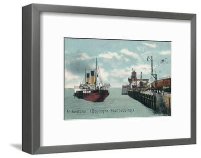 Folkestone (Boulogne Boat leaving), c1905-Unknown-Framed Photographic Print