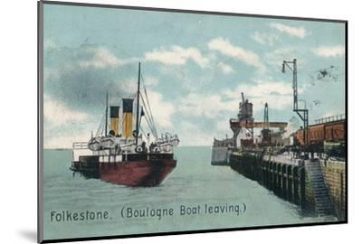Folkestone (Boulogne Boat leaving), c1905-Unknown-Mounted Photographic Print