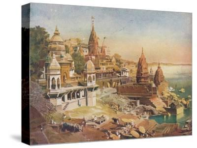 'The Sacred City of the Hindus: Benares on the Ganges', 1908-Unknown-Stretched Canvas Print