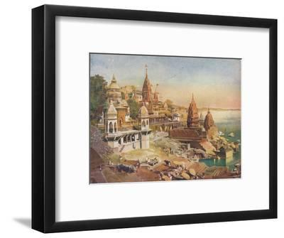 'The Sacred City of the Hindus: Benares on the Ganges', 1908-Unknown-Framed Giclee Print
