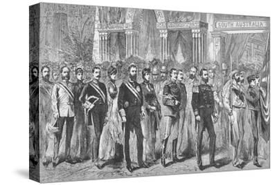 Procession of the Governors of Australia at the Melbourne Exhibition of 1888-Unknown-Stretched Canvas Print