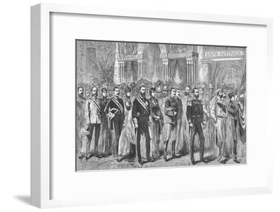 Procession of the Governors of Australia at the Melbourne Exhibition of 1888-Unknown-Framed Giclee Print