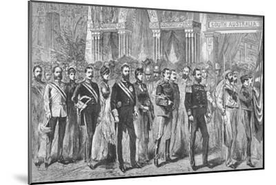 Procession of the Governors of Australia at the Melbourne Exhibition of 1888-Unknown-Mounted Giclee Print