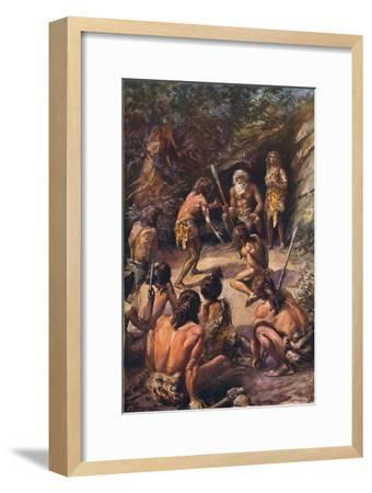 Primitive justice: an appeal to the head of the tribe, 1907-Unknown-Framed Giclee Print