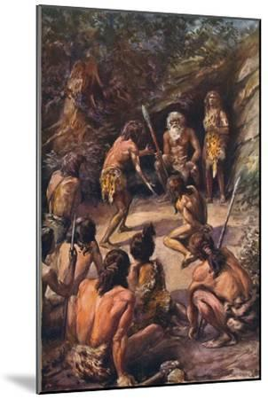 Primitive justice: an appeal to the head of the tribe, 1907-Unknown-Mounted Giclee Print