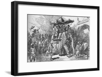 Entry of the Prince of Wales into Baroda, India, on 9 November 1875 (1908)-Unknown-Framed Giclee Print