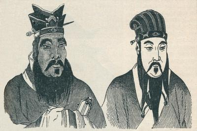 Chinese portraits of Confucius and his great follower Mencius, 1907-Unknown-Framed Giclee Print
