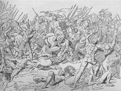 Socrates at the Battle of Potidaea, 432 BC (1908)-Unknown-Framed Giclee Print
