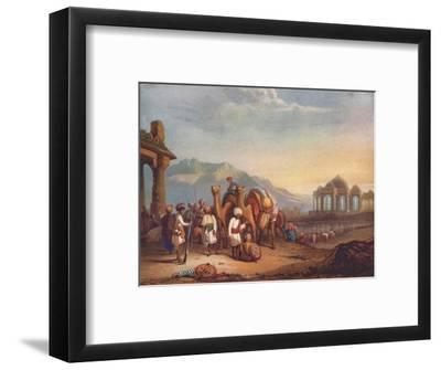 'Travellers with Escort in the Ancient Province of Kattywar', 1908-Unknown-Framed Giclee Print