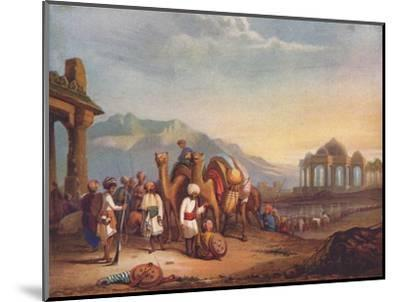 'Travellers with Escort in the Ancient Province of Kattywar', 1908-Unknown-Mounted Giclee Print