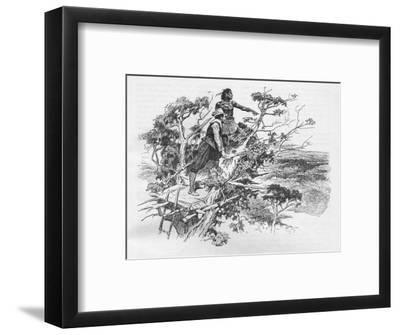 Sir Francis Drake's first sight of the Pacific Ocean, 1578 (1908)-Unknown-Framed Giclee Print