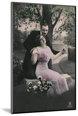'Romantic postcard', c1910-Unknown-Mounted Photographic Print